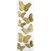Martha Stewart Stickers-Golden Butterflies