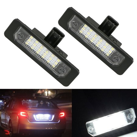 Led Rear Light (2-pack Exact Fit 18-SMD White LED License Plate Light Rear Number For Ford Flex/Taurus/Mustang/Focus/Fusion/Mercury Sable/Mercury Milan)