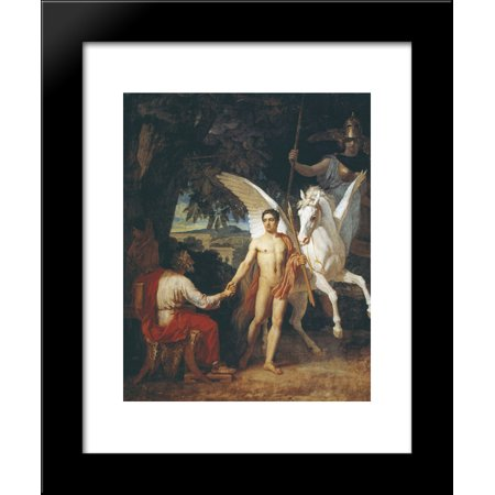 Bellerophon Is Sent To The Campaign Against The Chimera 20X24 Framed Art Print By Alexander Ivanov
