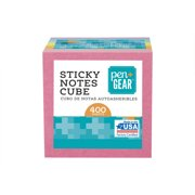 """Pen + Gear Sticky Notes Cube 2"""" x 2"""", 400 Sheets Total, 1 Cube"""