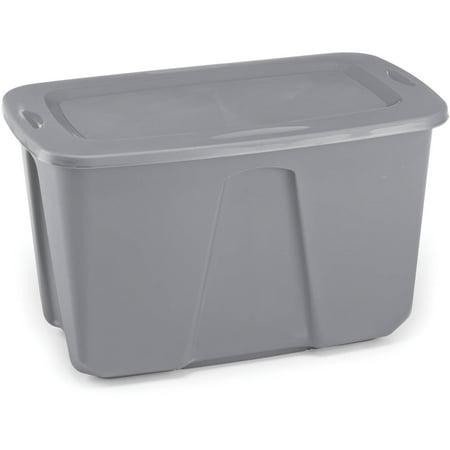 Signature Silver Box (Homz 32-Gallon Storage Container, Silver - Set of)