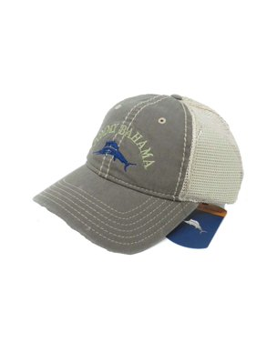 Tommy Bahama Washed Marlin Camper Olive Adjustable Golf Hat Ball Cap