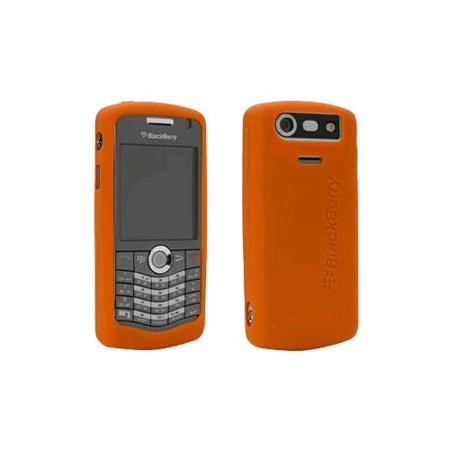 5 Pack -OEM BlackBerry 8120, 8130, 8110 Gel Skin Case, Light Orange