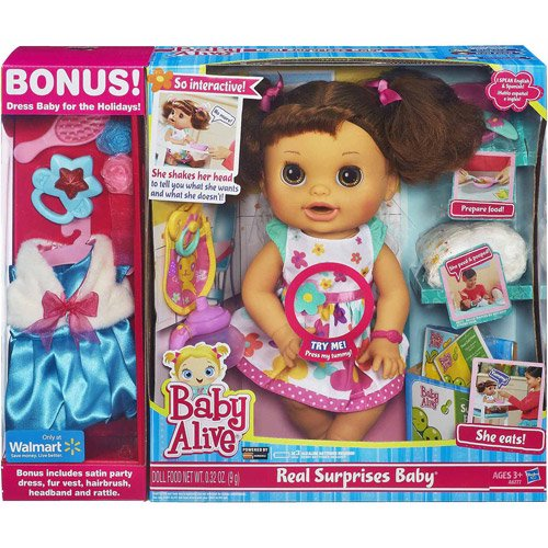 Baby Alive Clothes At Walmart Cool Baby Alive Real Surprises Baby Doll Bonus Pack Walmart