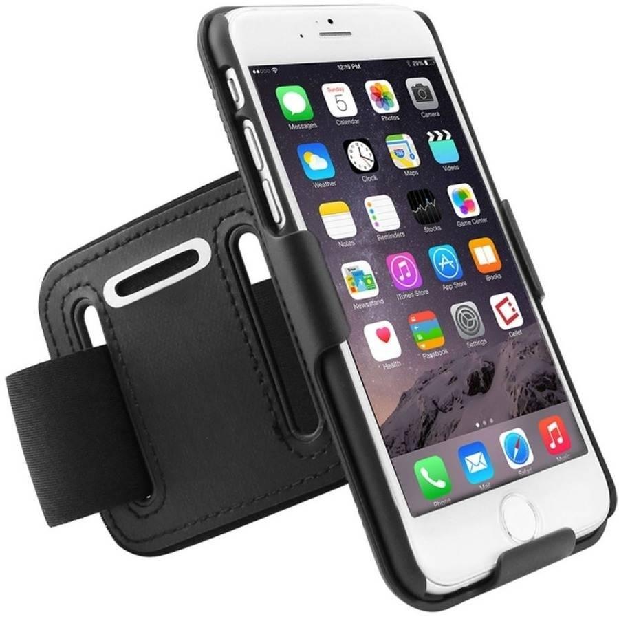 Cellet Rubberized Proguard Case + Sports Armband Combo for Apple iPhone 6