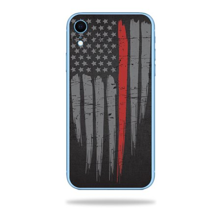 Skin for Apple iPhone XR - Thin Red Line | Protective, Durable, and Unique Vinyl Decal wrap cover | Easy To Apply, Remove, and Change (Escort Redline Xr Best Price)