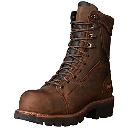 Men's Timberland PRO Rip Saw 9-Inch WP Composite Toe Logger Boots 89656 by Timberland PRO