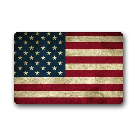 WinHome American Flag Stars Doormat Floor Mats Rugs Outdoors/Indoor Doormat Size 23.6x15.7 inches