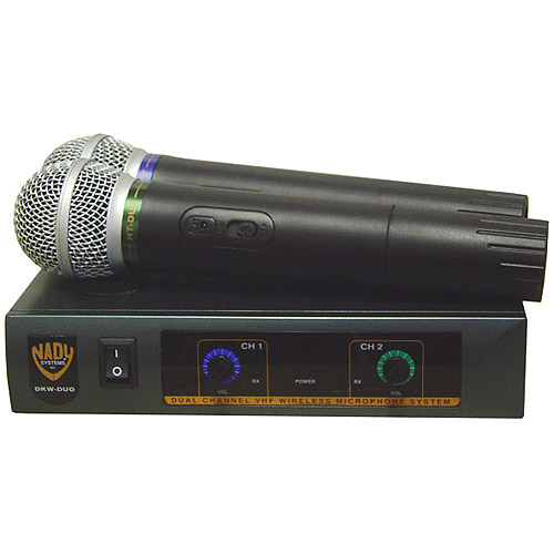 Nady DKW Duo VHF Handheld Wireless Microphone System - Channels B and D