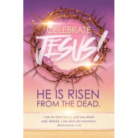 Bulletin-Celebrate Jesus! (Revelation 1:18) (Easter) (Pack Of 100) (Not Available-Out Of - Revelation Pack