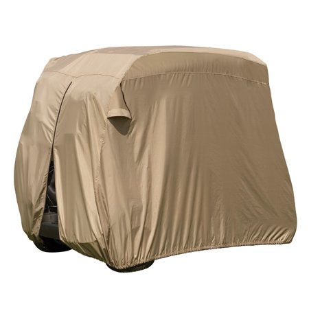 Classic Accessories Fairway 2-Person Easy-On Golf Cart Cover, Tan - Golf Cart Ideas