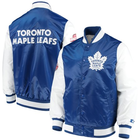 5396491332a Toronto Maple Leafs Starter Rookie Full-Snap Jacket - Blue White -  Walmart.com
