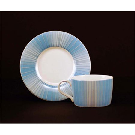 Euland China Mp3 002B 8 Piece Cup And Saucer Set   Modern Edge Blue