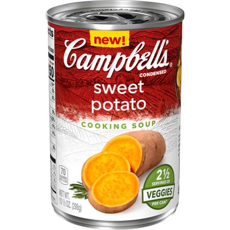 Campbell's Cooking Soup, Sweet Potato, Perfect for Cooking Dinner, 10.5 Ounce Can Potatoes Mushroom Soup