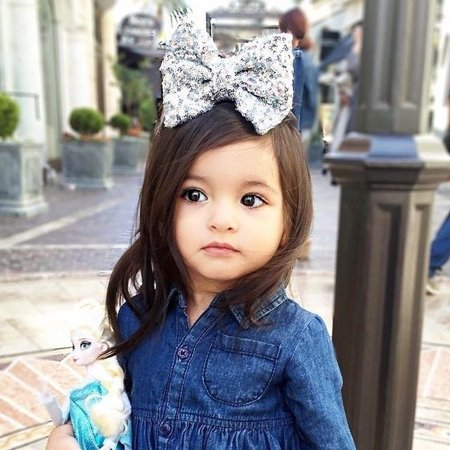 Toddler Kids Baby Girls Denim Jeans One Picece Princess Dress Long Sleeve Skirt - image 3 of 5