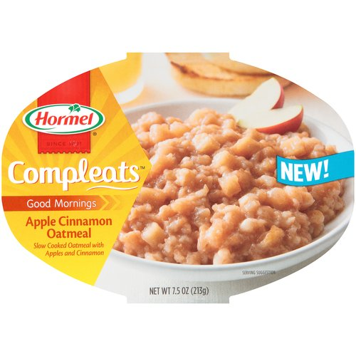 Hormel Compleats Good Mornings Apple Cinnamon Oatmeal, 7.5 oz