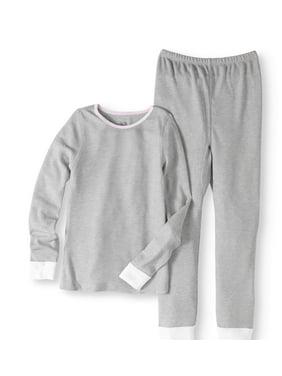 Fruit of the Loom Girls' Soft Waffle Thermal Underwear Set (Little Girls & Big Girls)