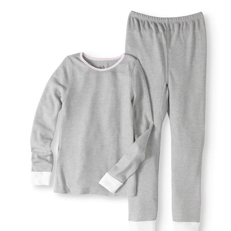 Girls' Soft Waffle Thermal Underwear Set (Girls Pajamas Size 16)