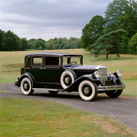 1930 Pierce Arrow Model 8 four door sedan 60 litre L-head straight eight engine Country of origin United States Stretched Canvas - Panoramic Images (12 x 12)