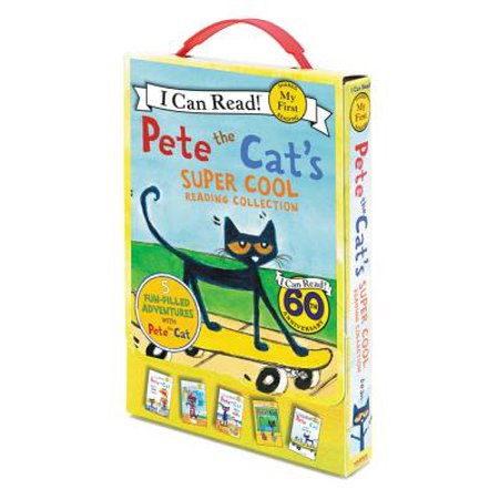 Pete the Cat's Super Cool Reading Collection : Too Cool for School/Play Ball!/Pete at the Beach/Pete's Big Lunch/A Pet for Pete ()