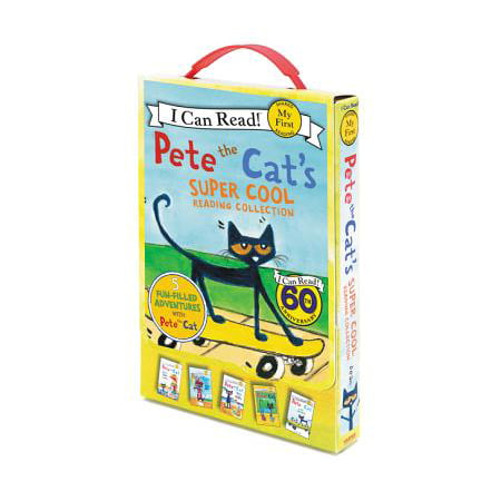 Pete the Cat's Super Cool Reading Collection : Too Cool for School/Play Ball!/Pete at the Beach/Pete's Big Lunch/A Pet for Pete