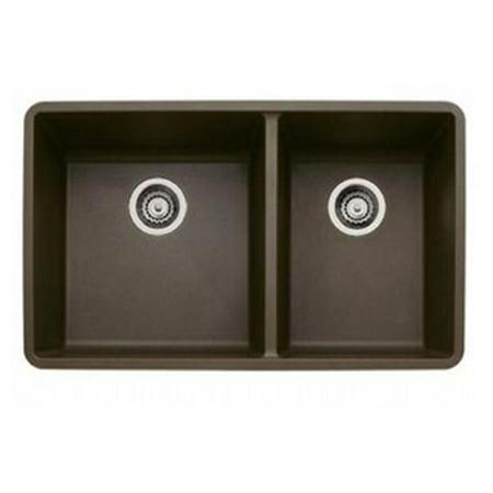 Blanco 441129 16-Inch Précis 1-3/4 Bowl Sink, Café Brown
