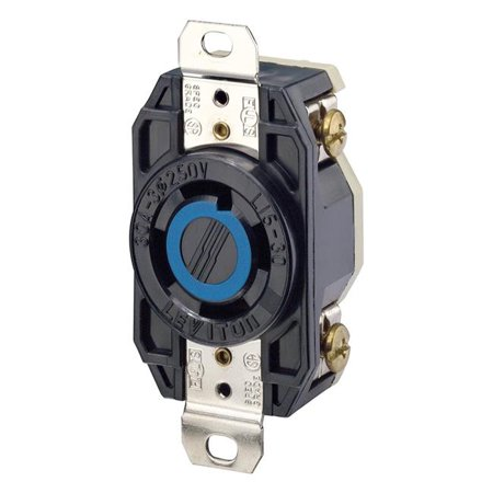 30 amp 3-Phase, Flush Mounting Locking Receptacle