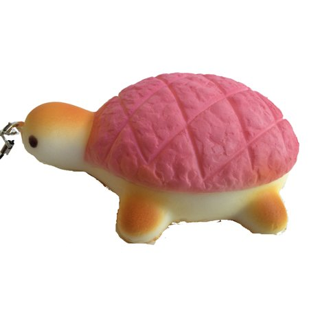 Jumbo Colored Shell Turtle Squishies - Pink Shell