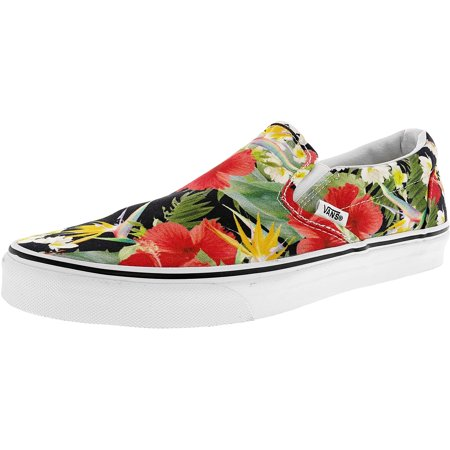 f29c0e3f62 Vans - Vans Men s Classic Slip-On Digi Aloha Black   True White Ankle-High  Canvas Fashion Sneaker - 11M - Walmart.com