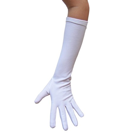 SeasonsTrading White Costume Gloves (Elbow Length) - Prom, Dance, Party](Promo Costumes)