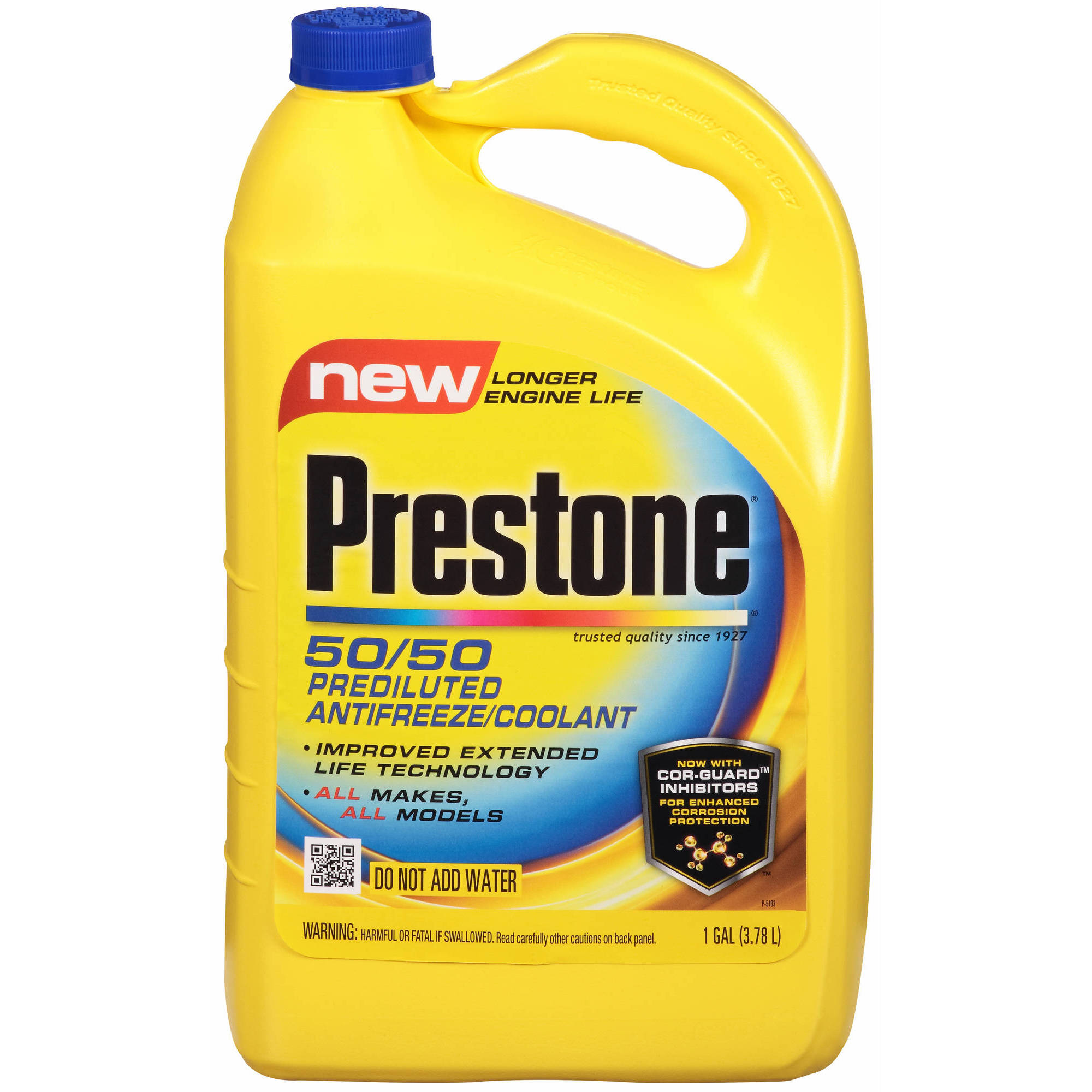 What Color Is Prestone Coolant >> Prestone Extended Life Prediluted Antifreeze/Coolant, 1 Gallon, (6-Pack) - Walmart.com