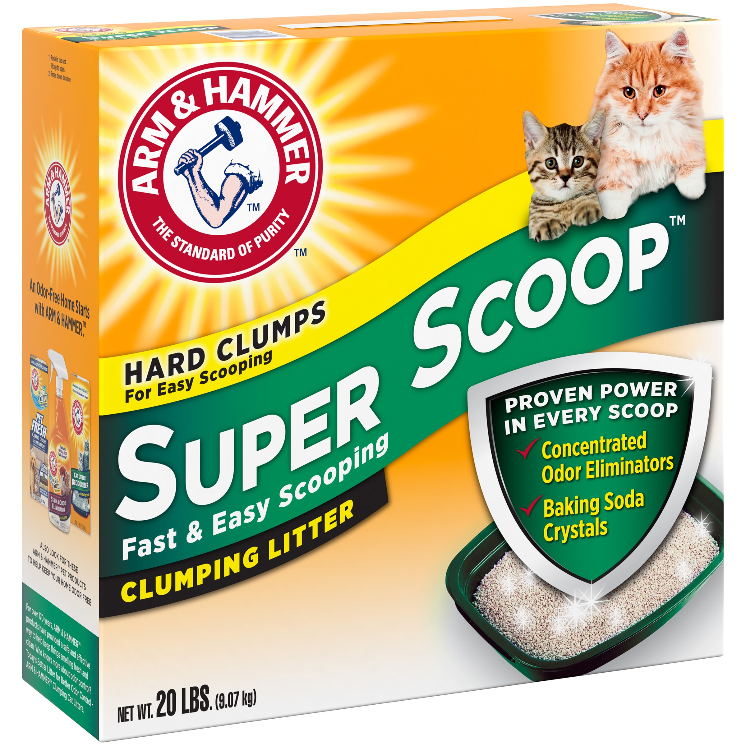 Arm & Hammer Clumping Cat Litter Super Scoop, 20-lb
