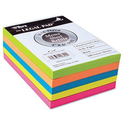 TOPS Fluorescent Color Memo Sheets