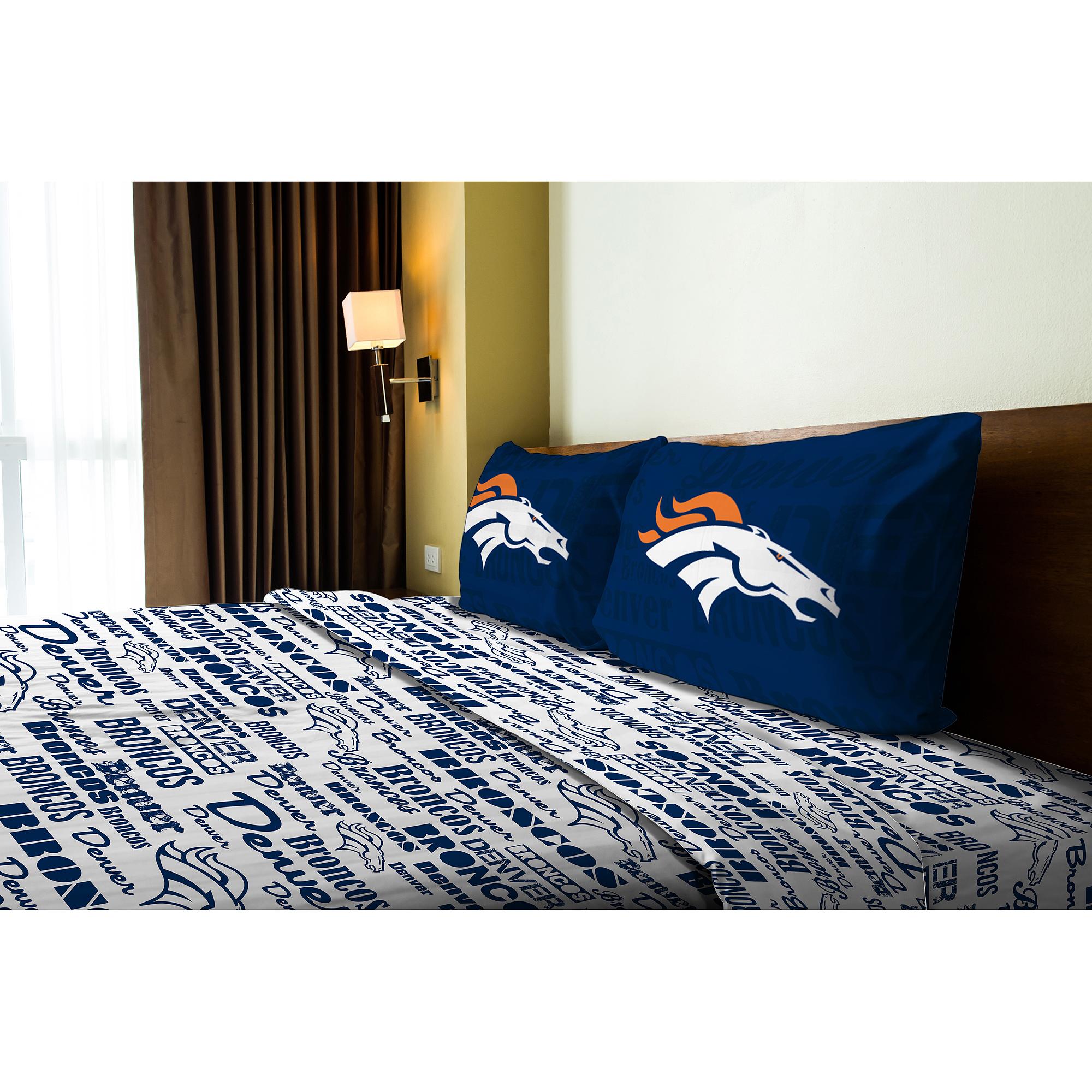 Denver Broncos Full Sheet Set   Walmart.com