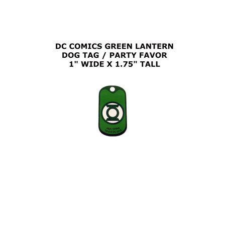 Green Lantern DC Comics Cartoon Theme Logo Dog Tag Necklace Party Favor - Dog Themed Party
