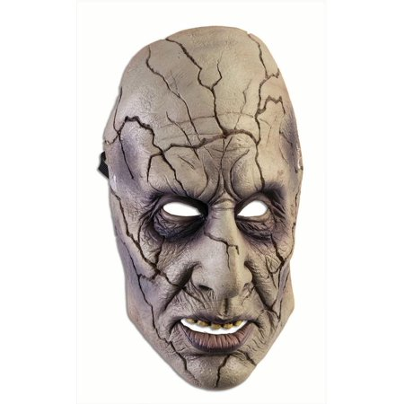 Frontal Mask Cracked Zombie Adult Costume Accessory Halloween Party One Size - Horror Face Mask