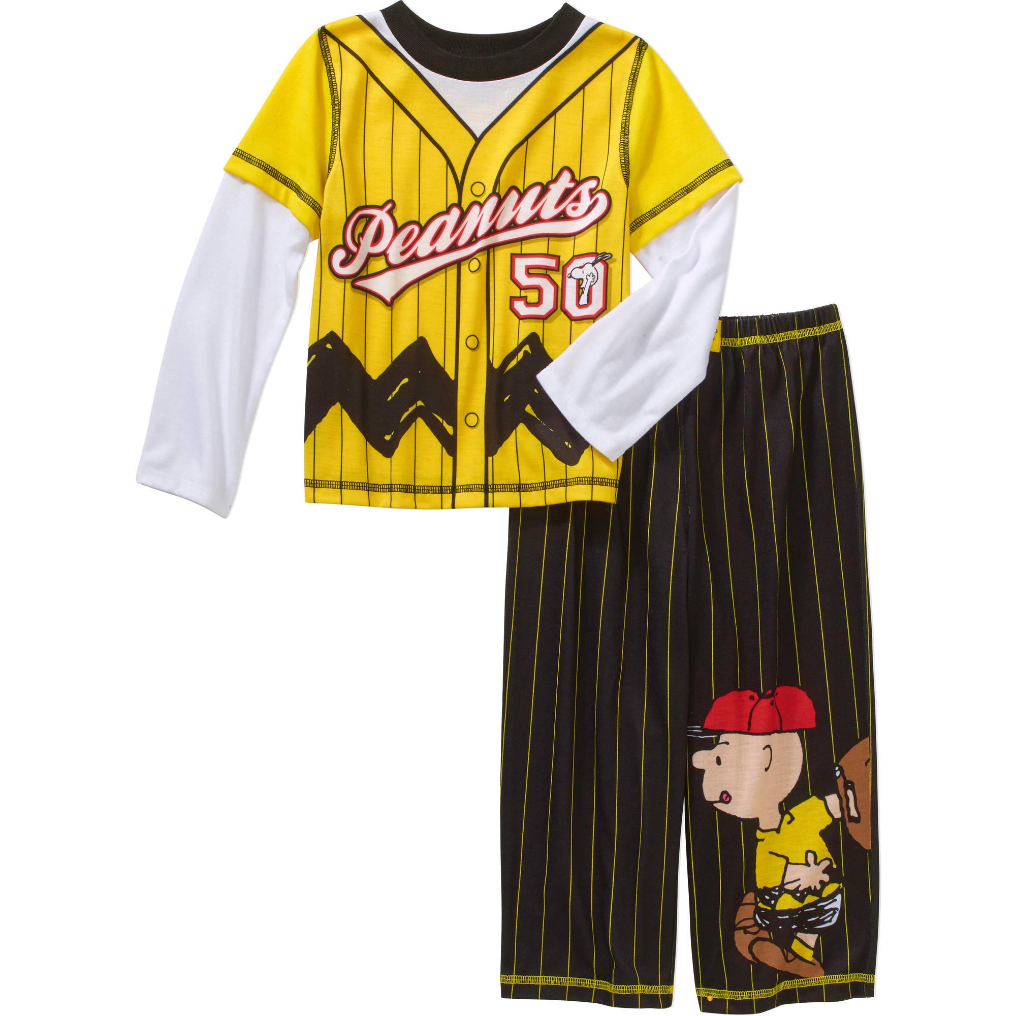 Peanuts Toddler Boys' Baseball Pajamas 2-Piece Set