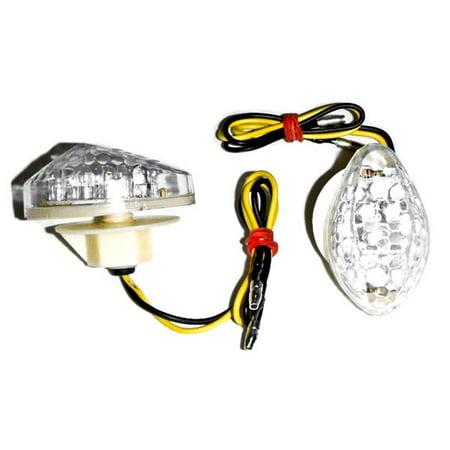 Krator Motorcycle 1997-2012 Honda LED Flushmount Turn Signals Clear Flush Mount Indicators Signals Fits 600RR 600 F41 1000RR