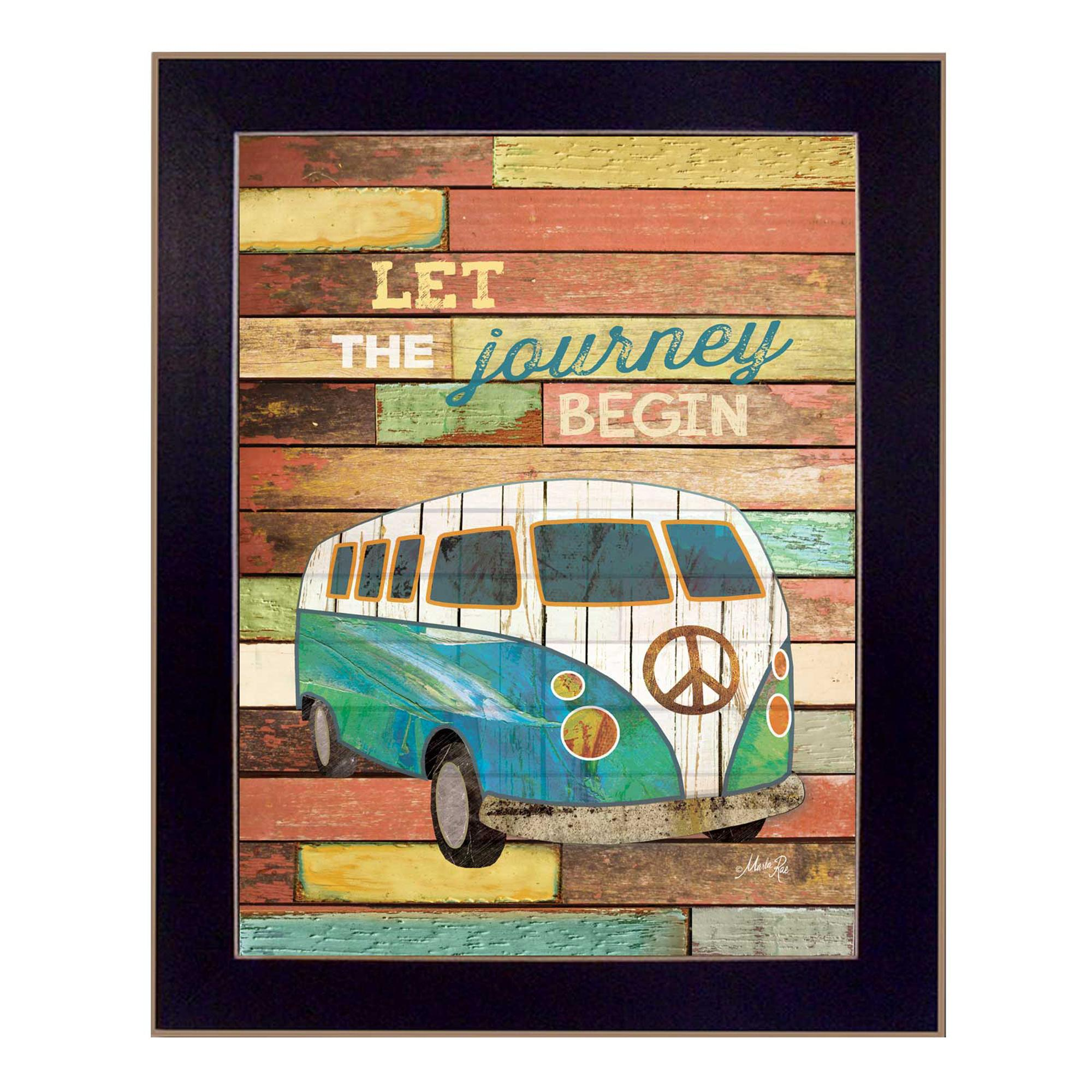 """""""Let the Journey Begin"""" by Marla Rae Printed Framed Wall Art - image 2 de 2"""