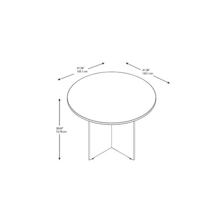 "Bush Business 42"" Round Conference Table in Hansen Cherry - image 5 de 6"
