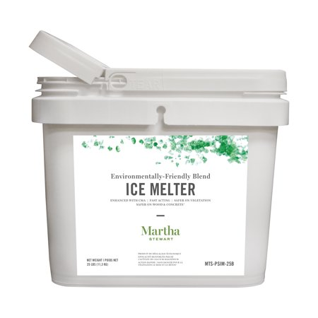 Safe Step 25 Lb Ice (Martha Stewart 25LB Blended Ice Melter | Resealable Bucket/Scoop | Environmentally Friendly | Pet Safe )