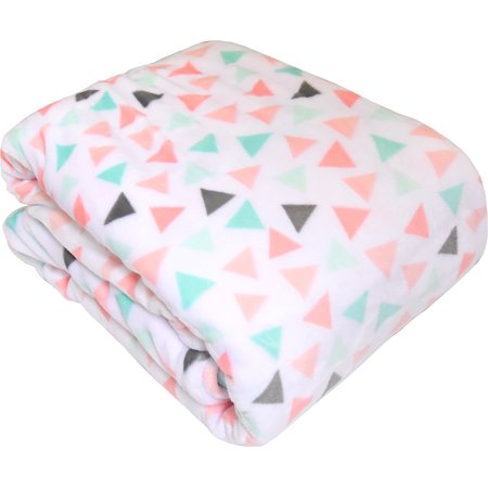 "Your Zone 66"" x 90"" Multi-Color Triangle Blanket, 1 Each"