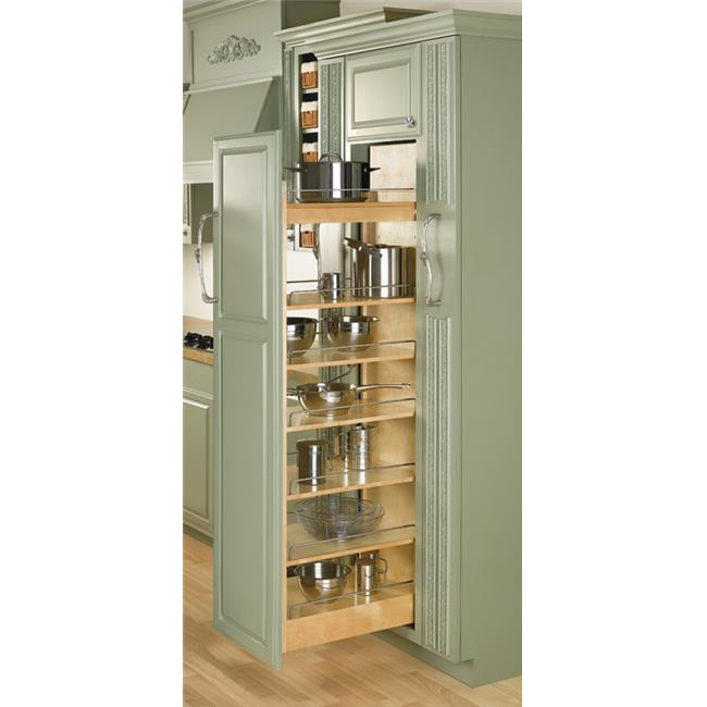HD RS448. TP51. 8. 1 Rev-A-Shelf Pullout Pantry Organizers with Shelves - 8 x 22, 5 Shelves