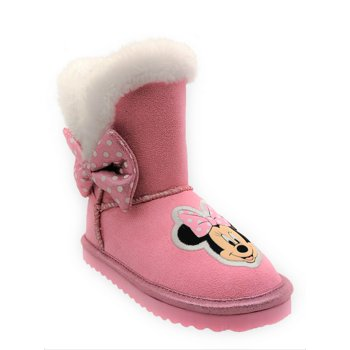 Disney Minnie Mouse Cozy Faux Shearling Winter Boot