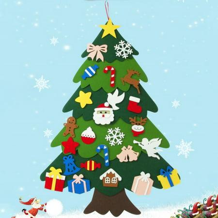 Creative Children Handmade DIY Toy Felt Stereo Christmas Tree Countdown Calendar Decoration Ornaments Pendant ()