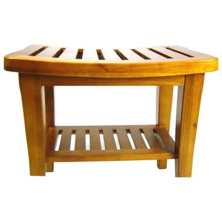 20 x 17.5 x 13.5 Genuine Teak Bench - Teak