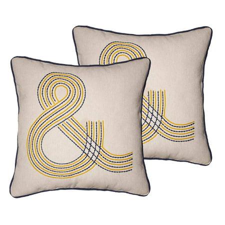 Room Essentials Ampersand Symbol Decorative Throw/Toss Pillows, 18