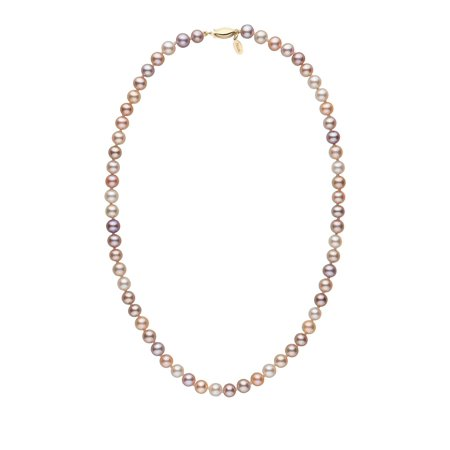 (6.5-7.0 mm 18 Inch Multicolor Freshadama Freshwater Pearl Necklace)