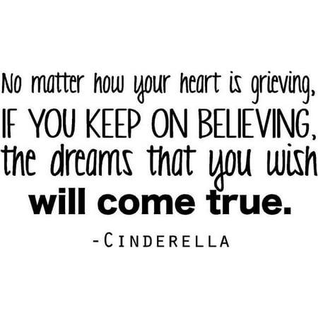 Cinderella Wall Stickers (Cinderella Movie Quote / Wall Movie Decal - Teen Bedroom Sticker - 20