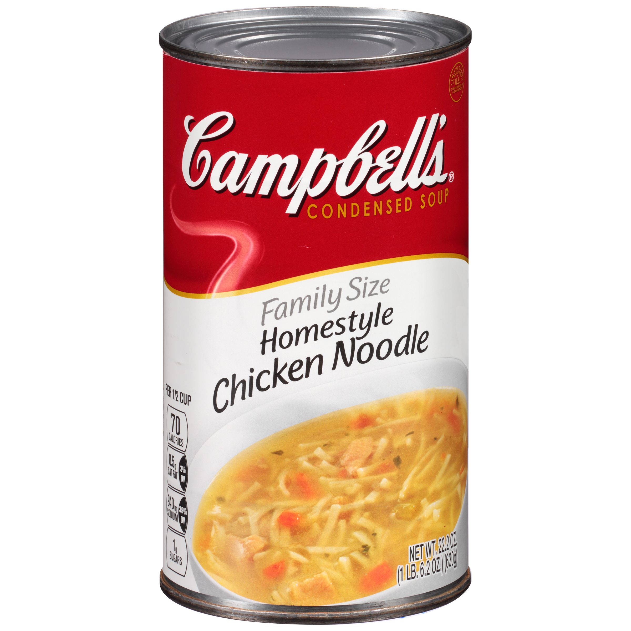 Campbell's Family Size Homestyle Chicken Noodle Soup 22.2oz